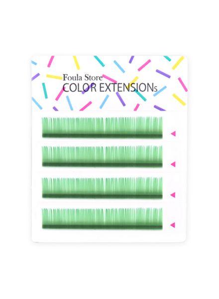 彩色單根 4列 (粉綠色)