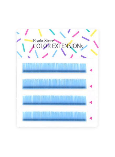 彩色單根 4列 (粉藍色)
